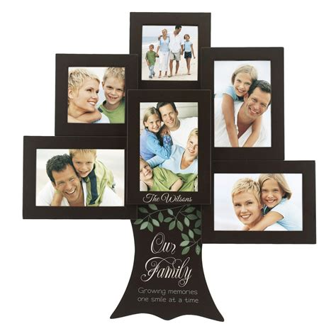 college photo frame personalized family tree 6 picture frame collage