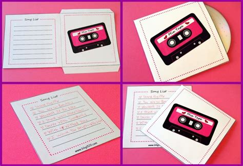 Handmade Presents For Boyfriend - free printable to make your own mix of songs cd