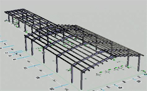 barn structure   autocad  cad