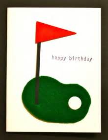 handmade cards greeting cards by tracy happy birthday felt golf green