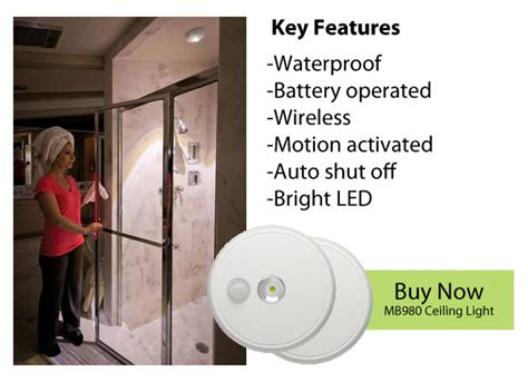 Wireless Shower Light bright ideas mr beams wireless lighting lighting without wires and without electricians