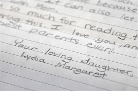 Thank You Letter Definition writing a thank you letter to your parents the meaning