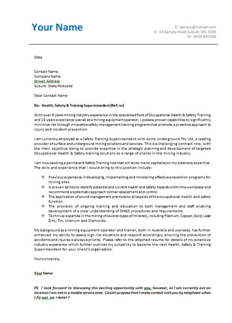 Business Letter Format Australia australian cover letter format best template collection