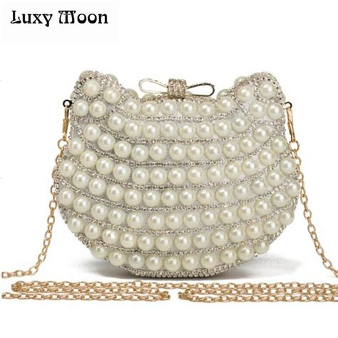 Clutch With Pearl 11 1 E1 1 new arriving pearl evening bags cat shape beaded clutch bags summer style bag
