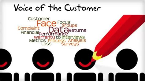 voice of the customer template voice of the customer exle in six sigma
