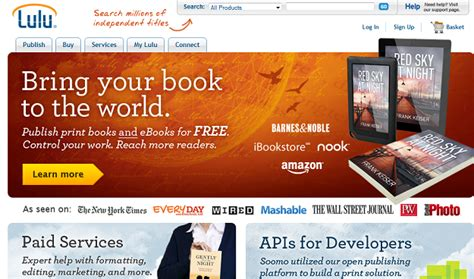 best self publishing site lulu a self publishing site launches new ecommerce