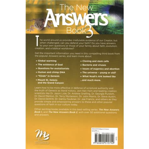 new answers book 2 the new answers book 3 creation today