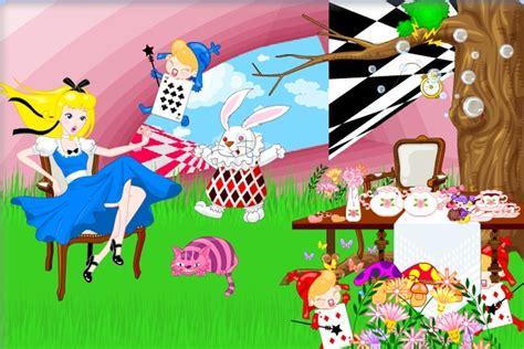 alice  wonderland decoration game disney games games