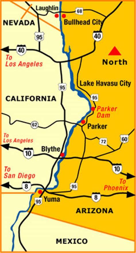 parker map   arizona colorado river communities a3 map