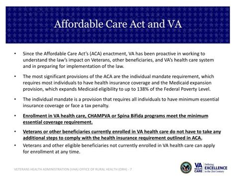 the affordable care act ppt download ppt veterans health administration powerpoint