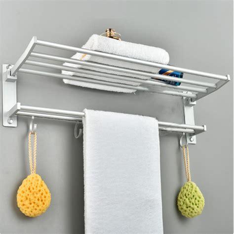 osuki quality aluminium towel hanging rack bathroom