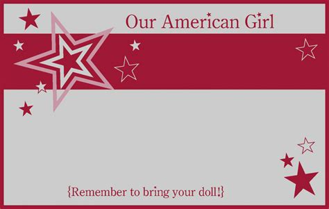 American Birthday Card Template by Wonderful Of American Birthday Invitations