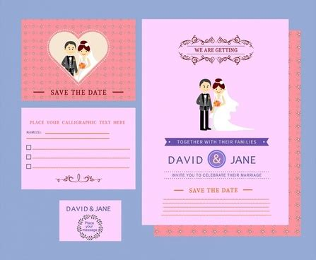 newlywed card templates wedding card template free vector free vector