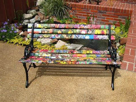 painted outdoor benches garden benches to enhance your outdoor space