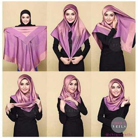 tutorial hijab segi empat simple dan modis untuk wajah lonjong tutorial hijab segi empat simple dan modis untuk bermacam