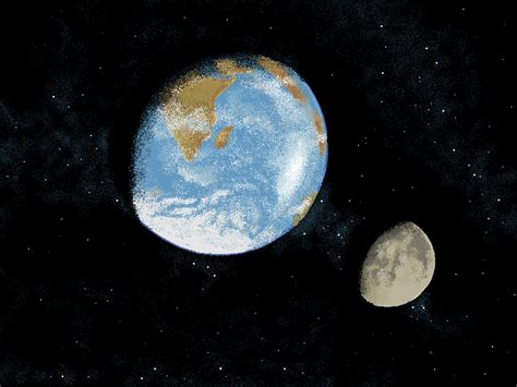 ms paint earth and moon by devilstick on deviantart