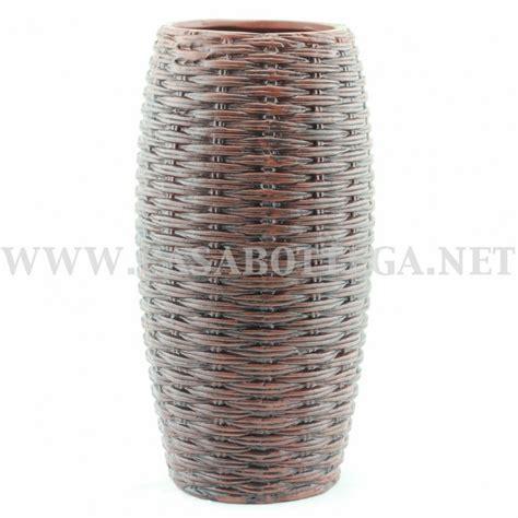 porta vasi vaso porta fiori intrecciato marrone