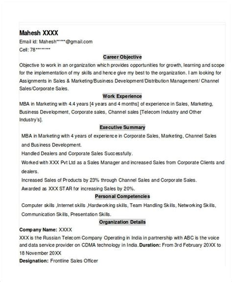 standard resume format for experienced free experience resume template learnhowtoloseweight net
