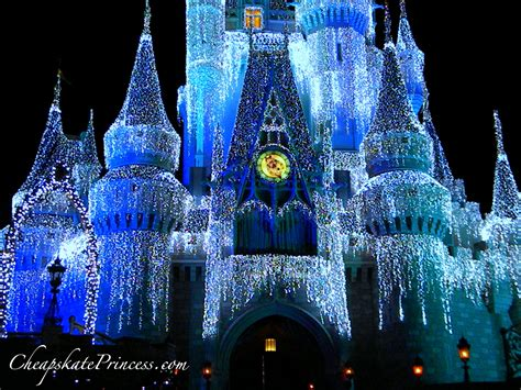 cinderella castle at christmas photos and trivia disney