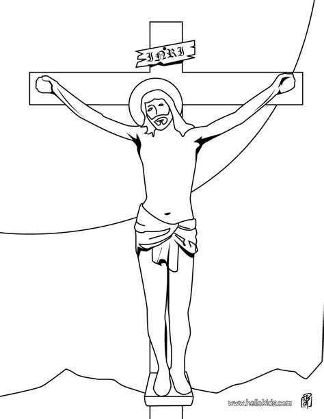 coloring pages jesus on the cross jesus on the cross coloring pages hellokids com