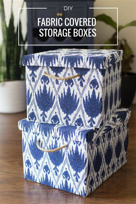 diy storage box fabric covered storage boxes stylish storage