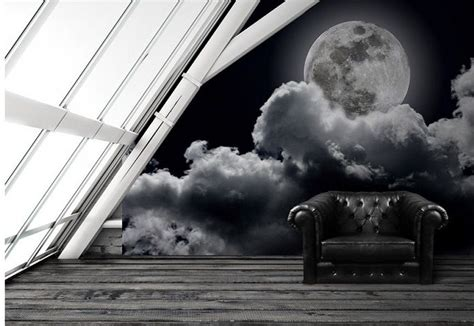 black and white wallpaper murals uk full moon black white wallpaper murals by homewallmurals