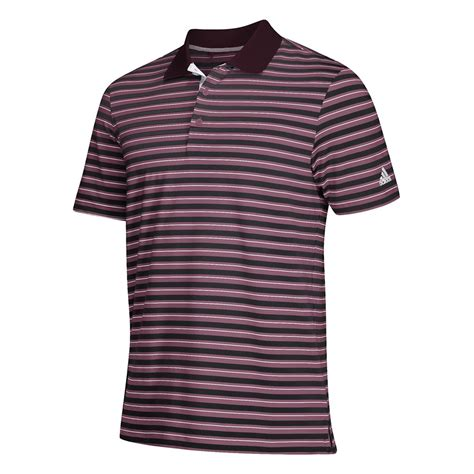 adidas s maroon ultimate 3 stripe polo