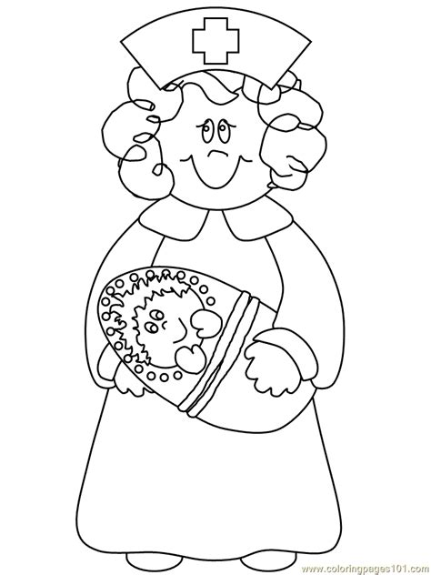 printable nursing images free coloring pages of doctor nurse