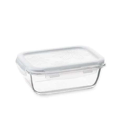 conservation plat cuisin plat en verre avec couvercle rectangulaire730 ml lock and