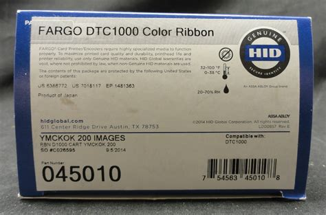 Ribbon Color Dtc1000 new fargo 045010 dtc1000 color ribbon ebay