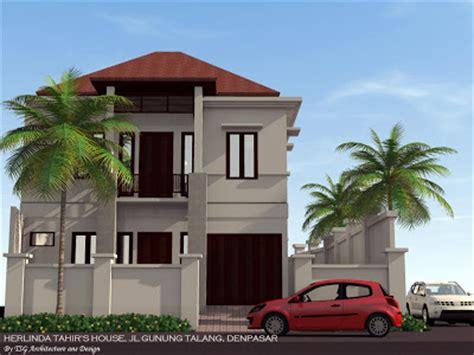 gambar 3 dimensi rumah tinggal jalan gunung talang denpasar tsg architecture and design