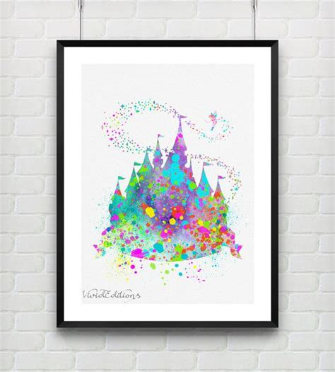free printable princess wall art princess castle disney princess baby girl watercolor