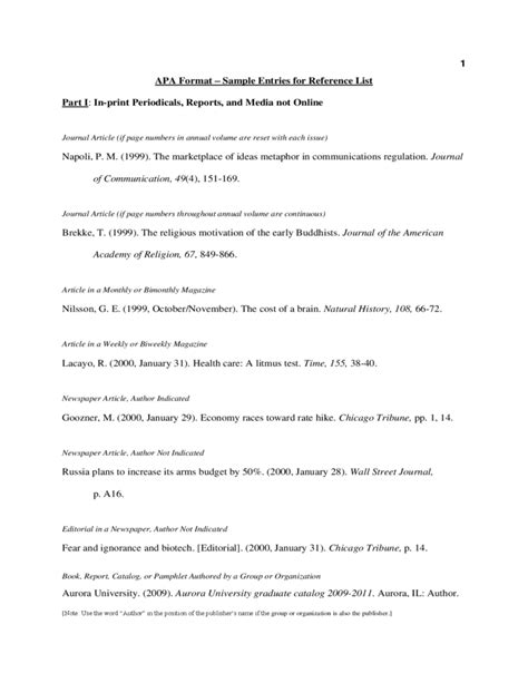 apa reference list template apa format sle reference list free