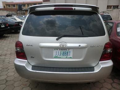 toyota highlander 2005 model@ n1.550m autos nigeria