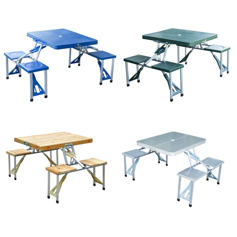 folding picnic table portable folding picnic table 4 options