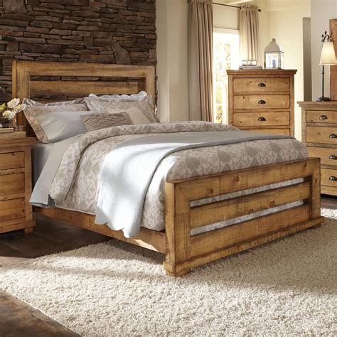 distressed pine bedroom furniture progressive furniture willow king slat bed with distressed