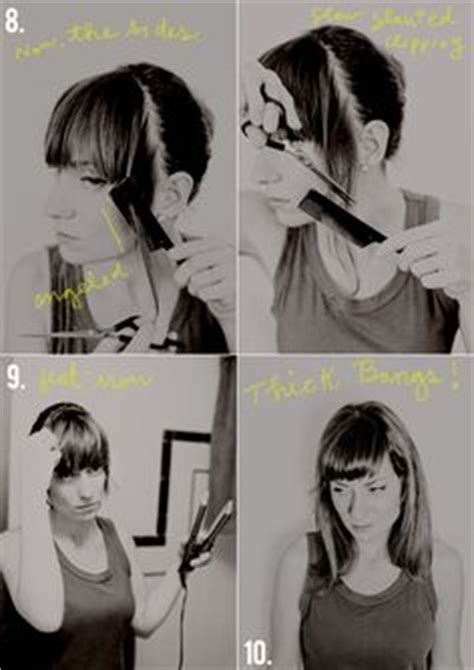 how to cut myself meduimshag at home how to cut your own thick bangs a tutorial and then we