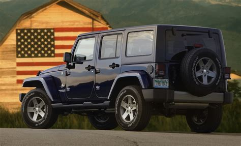 Jeep Wrangler Unlimited Edition 2012 Jeep Wrangler Unlimited Freedom Edition Rear 7 8 View