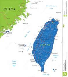 Highly detailed vector map of taiwan with administrative regions main
