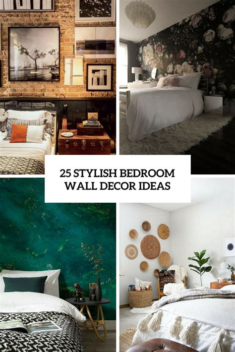 wall decorating ideas for bedrooms 25 stylish bedroom wall decor ideas digsdigs
