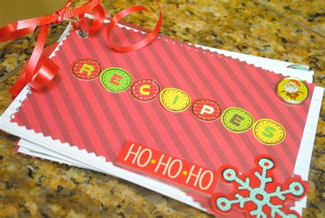 Handmade Recipe Book Ideas - gift idea elmer s gluenglitter recipe