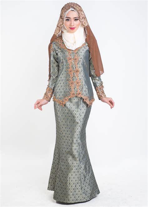 Baju Kebaya Songket Moden baju kurung moden nikah salomah green