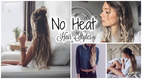 easy hairstyles without heat cute hairstyles without heat hair hair