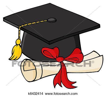 laurea clipart clipart laureato nero berretto con diploma k6432414