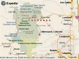 allenspark and estes park colorado area information