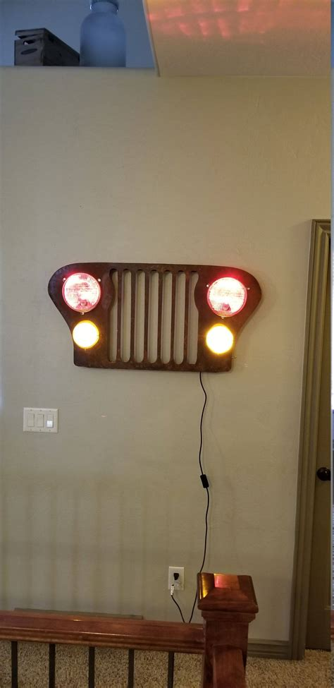 led lights for man cave jeep grill wall art led remote control lights man cave