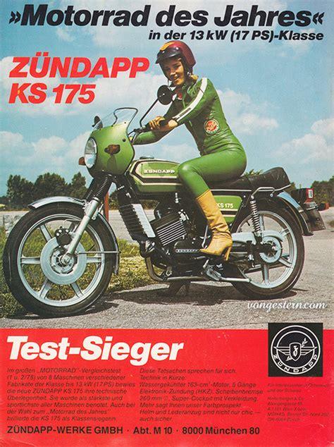 Werbung Kawasaki Motorrad by Vongestern Motorrad Des Jahres Z 252 Ndapp Ks 175 1978