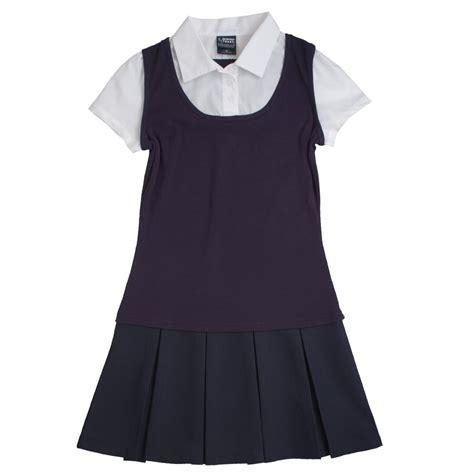 Cgd 2in1 Grey Dress toast school uniforms 2 in 1 pleated dress ebay