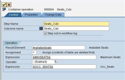 sap workflow container operation saptechnical using container operation