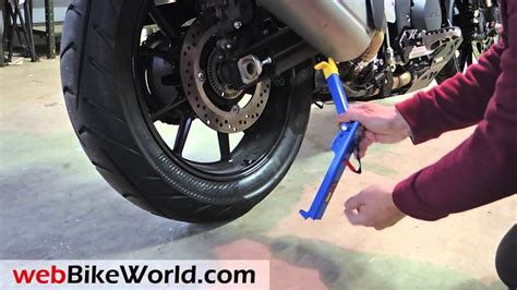 snapjack portable motorcycle lift jack youtube